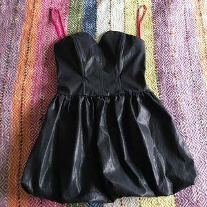 Betsy Johnson Coated Strapless Bubble Mini Dress